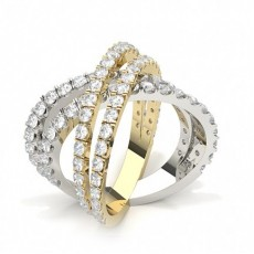 Round Studded Diamond Fashion Ring