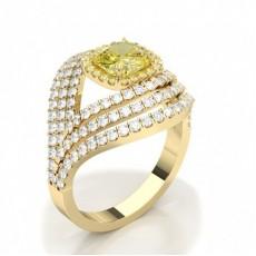 Or Jaune Bagues en diamant jaune