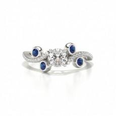 Designer Vintage Runde Blue Sapphire Fashion Ring