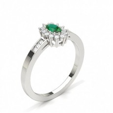 Oval Emerald Diamond Rings