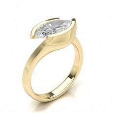 Bague diamant solitaire or jaune