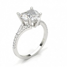 Heart White Gold Classic Solitaire Engagement Rings