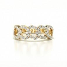 Gelbgold Diamantringe für den Alltag