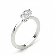 Round White Gold Two Stone Diamond Rings