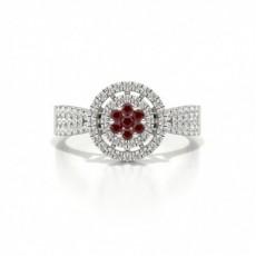 Silver Gemstone Diamond Rings