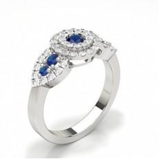 Round Gemstone Diamond Engagement Rings