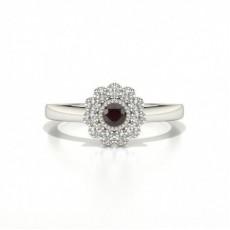 Silver Gemstone Engagement Rings