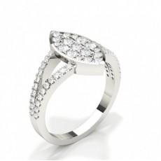 Diamant-Clusterring in runder Krappenfassung