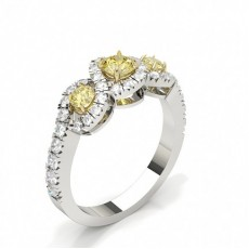 Round White Gold Diamond Rings