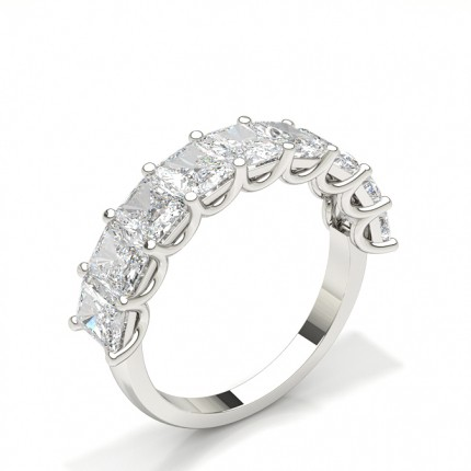 Prong Setting Half Eternity Diamond Ring