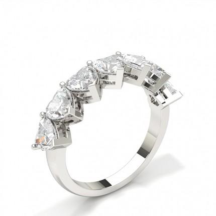 Halb Eternity Diamant Ring in einer Krappenfassung
