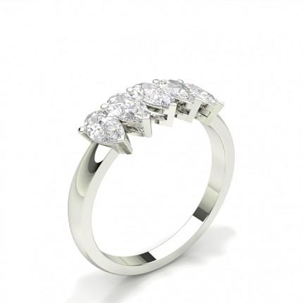 Bague 5 pierres diamant serti griffes