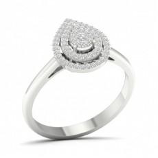 Platinum Diamond Engagement Cluster Rings