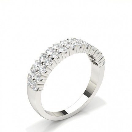 Prong Set Half Eternity Diamond Ring