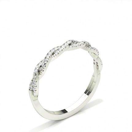 Prong Setting Half Eternity Round Diamond Ring
