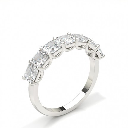 Prong Setting Asscher Seven Stone Ring