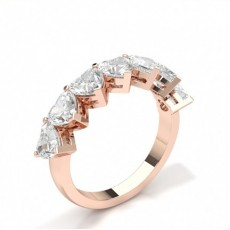 Or Rose 7 Pierres Bague Diamant