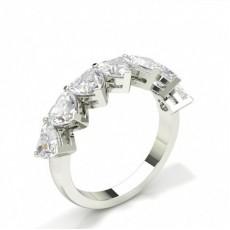 Prong Setting Heart Seven Stone Ring