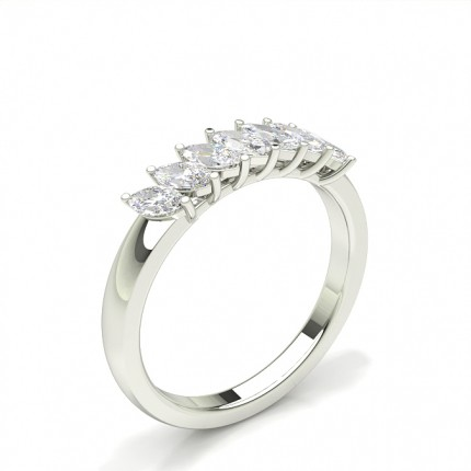 Prong Setting Marquise Seven Stone Ring
