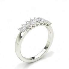 White Gold Contemporary Diamond Engagement Rings