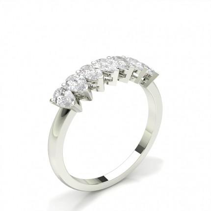 Zinkeneinstellung Birne Sieben Stein Ring