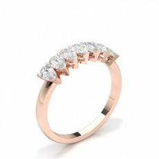 Rose Gold Contemporary Diamond Engagement Rings