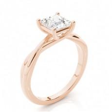 Princesse Or Rose Bague solitaire diamant