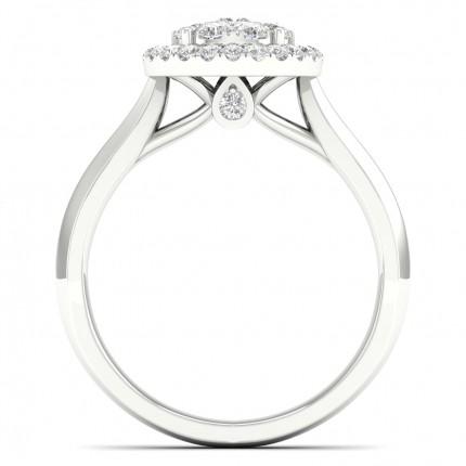 Pressure Setting Princess Diamond Cluster Ring