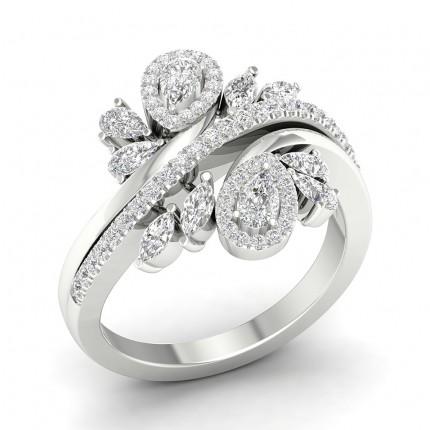 Prong Pear  Diamond Fashion Ring