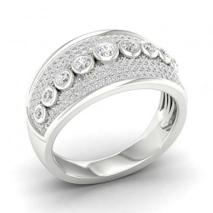 Full Bezel Setting Round Diamond Fashion Ring