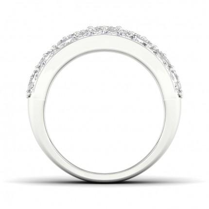 Prong Setting Princess  Diamond Fashion Ring