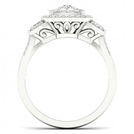 Prong Round  Diamond Fashion Ring