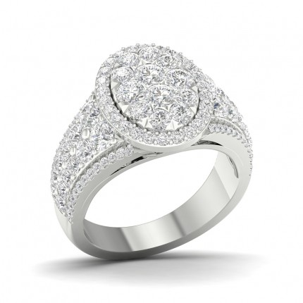 Prong Round  Diamond Fashion Ring
