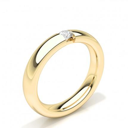 Solitär Diamant Studded Damen Ehering