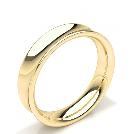 Concave Profile Plain Mens Wedding Band