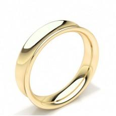 Concave Profile Plain Mens Wedding Band