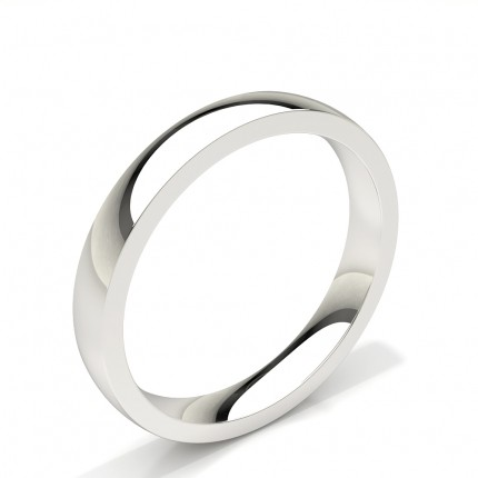 Court Profile Plain Mens Wedding Band