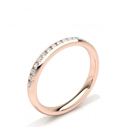 Channel Set Diamonds Womens Wedding Band