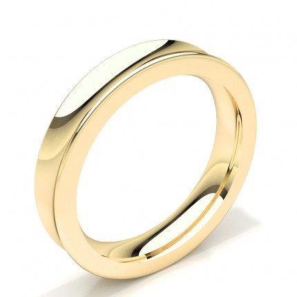 Concave Profile Standard Fit Mens Wedding Band