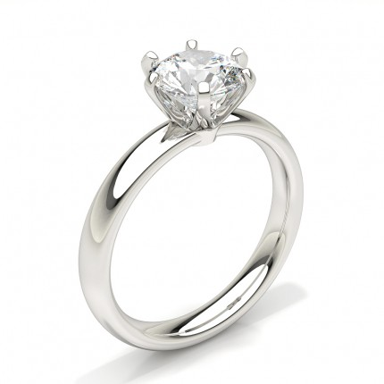 Bague de fiançailles solitaire diamant rond