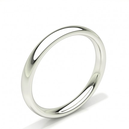 Court Profile Comfort Fit Plain Mens Wedding Band