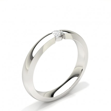 Kanal Set Solitär Diamant Damen Ehering