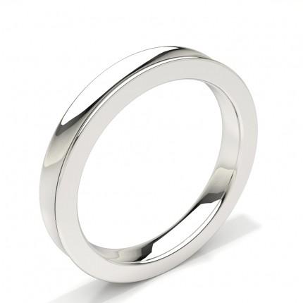 Concave Profile Comfort Firt Plain Mens Wedding Band