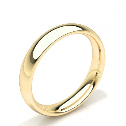 Low Dome Profile Comfort Fit Plain Mens Wedding Band