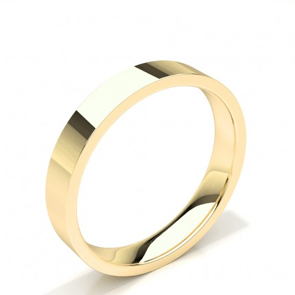 Flat Profile Plain Mens Wedding Band