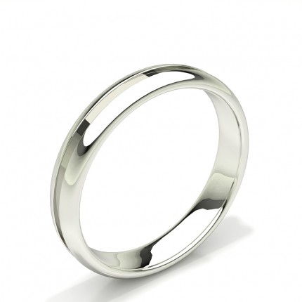 Grooved Design Comfirt Fit Plain Mens Wedding Band