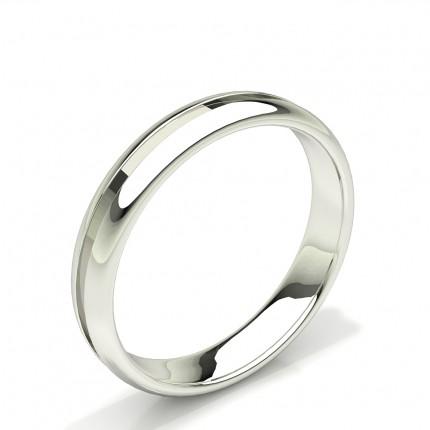 Gerilltes Design Komfort fit Einfach Herren Ehering