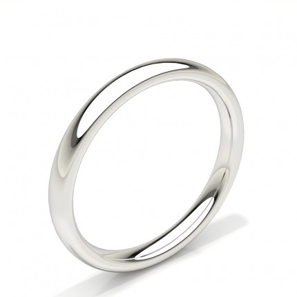 Low Dome Comfirt Fit Plain Mens Wedding Band