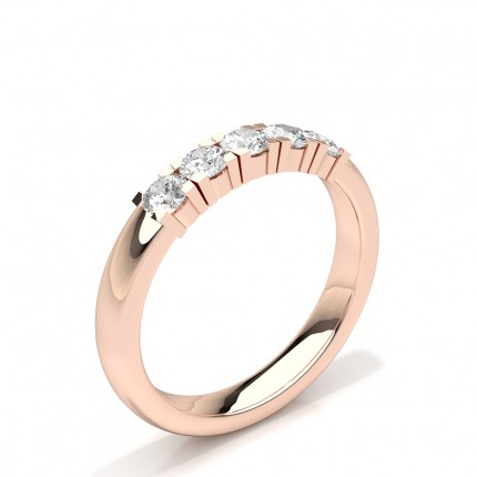 Zinkeneinstellung Runde Diamant Five Stone Damen Ehering