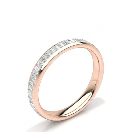 Kanal Einstellung Baguette Diamant Damen Ehering
